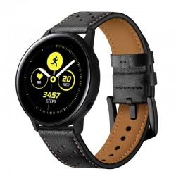 Kožený řemínek pro Samsung Galaxy Watch Active černý