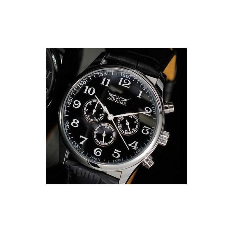 ... Pánské hodinky Jaragar Automatic Pilot s černým páskem ... 5f824f1630f