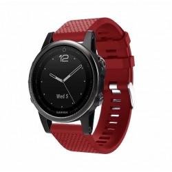 Silikonový řemínek pro Garmin Fenix 5S/5S Saphire/5S Plus červený