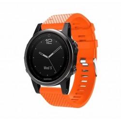 Silikonový řemínek pro Garmin Fenix 5S/5S Saphire/5S Plus oranžový