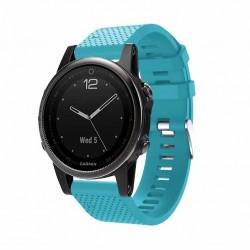 Silikonový řemínek pro Garmin Fenix 5S/5S Saphire/5S Plus světle modrý