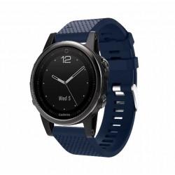 Silikonový řemínek pro Garmin Fenix 5S/5S Saphire/5S Plus modrý
