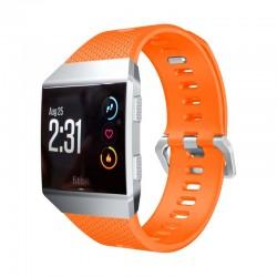 Sportovní silikonový řemínek pro Fitbit Ionic oranžový