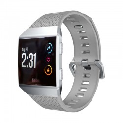 Sportovní silikonový řemínek pro Fitbit Ionic šedý