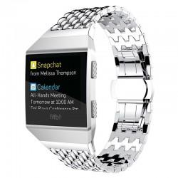 Kovový řemínek pro Fitbit Ionic stříbrný