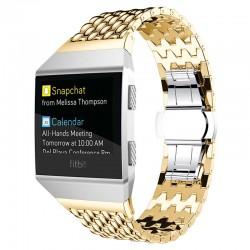 Kovový řemínek pro Fitbit Ionic zlatý
