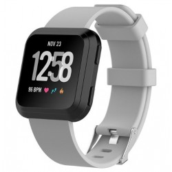 Sportovní silikonový řemínek pro Fitbit Versa Lite šedý