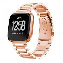 Kovový řemínek pro Fitbit Versa Lite růžový