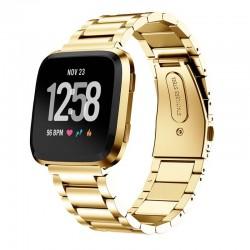 Kovový řemínek pro Fitbit Versa Lite zlatý