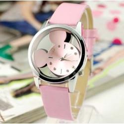 Dětské hodinky Mickey Mouse růžové