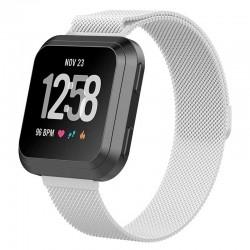 Řemínek Milánský tah pro Fitbit Versa Lite stříbrný