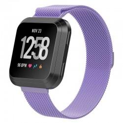 Řemínek Milánský tah pro Fitbit Versa Lite fialový