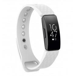 Sportovní silikonový řemínek pro Fitbit Inspire HR bílý