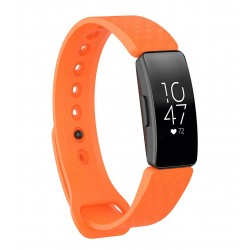 Sportovní silikonový řemínek pro Fitbit Inspire HR oranžový