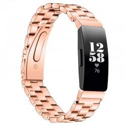 Kovový řemínek pro Fitbit Inspire HR růžový
