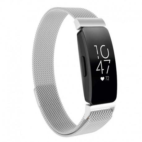 Řemínek Milánský tah pro Fitbit Inspire HR stříbrný
