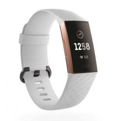 Sportovní silikonový řemínek pro Fitbit Charge 3 bílý