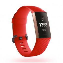 Sportovní silikonový řemínek pro Fitbit Charge 3 červený