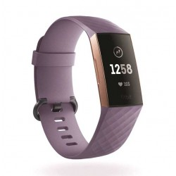 Sportovní silikonový řemínek pro Fitbit Charge 3 fialový