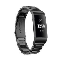 Kovový řemínek pro Fitbit Charge 3 černý
