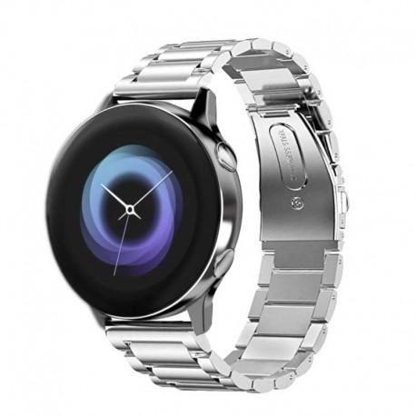 Kovový řemínek pro Samsung Galaxy Watch Active stříbrný
