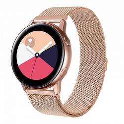 Řemínek Milánský tah pro Samsung Galaxy Watch Active 2 40mm růžový