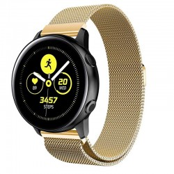 Řemínek Milánský tah pro Samsung Galaxy Watch Active 2 40mm zlatý
