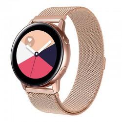 Řemínek Milánský tah pro Samsung Galaxy Watch Active 2 404mm růžový