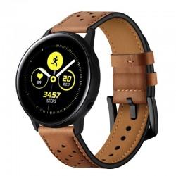 Kožený řemínek pro Samsung Galaxy Watch Active 2 40mm hnědý
