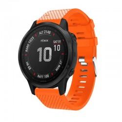 Silikonový řemínek pro Garmin Fenix 6S/6S Saphire/6S Pro oranžový