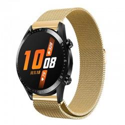 Řemínek Milánský tah pro Huawei Watch GT 2 42mm zlatý