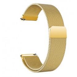 Řemínek Milánský tah pro Honor Watch Magic 2 46mm zlatý