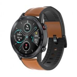 Kožený řemínek premium pro Honor Watch Magic 2 46mm hnědý