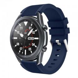 Silikonový řemínek pro Samsung Galaxy Watch 3 45mm modrý