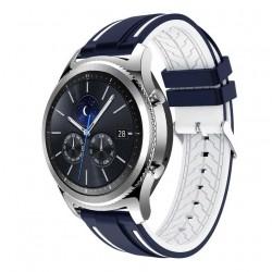 Silikonový řemínek pro Samsung Galaxy Watch 3 45mm modro-bílý