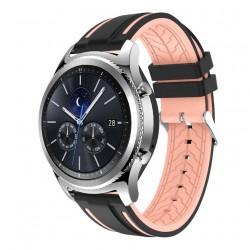 Silikonový řemínek pro Samsung Galaxy Watch 3 45mm černo-růžový