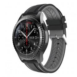 Silikonový řemínek pro Samsung Galaxy Watch 3 45mm černo-šedý