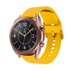 Silikonový řemínek pro Samsung Galaxy Watch 3 41mm žlutý