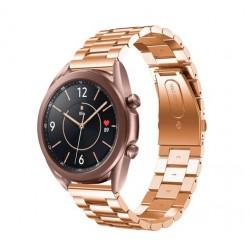 Kovový řemínek pro Samsung Galaxy Watch 3 41mm růžový