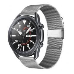 Řemínek Milánský tah pro Samsung Galaxy Watch 3 45mm stříbrný