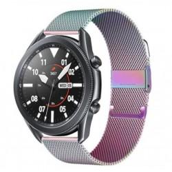 Řemínek Milánský tah pro Samsung Galaxy Watch 3 45mm duhový