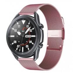Řemínek Milánský tah pro Samsung Galaxy Watch 3 45mm růžový