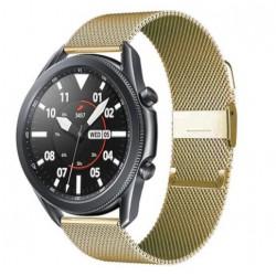 Řemínek Milánský tah pro Samsung Galaxy Watch 3 45mm zlatý