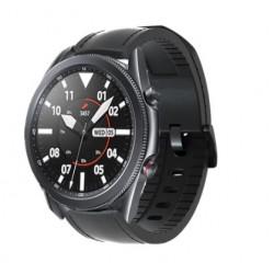 Kožený řemínek premium pro Samsung Galaxy Watch 3 45mm černý