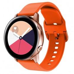 Silikonový řemínek pro Samsung Galaxy Watch Active oranžový