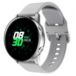Silikonový řemínek pro Samsung Galaxy Watch Active šedý