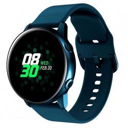 Silikonový řemínek pro Samsung Galaxy Watch Active modrý