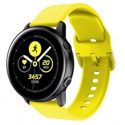 Silikonový řemínek pro Samsung Galaxy Watch Active žlutý