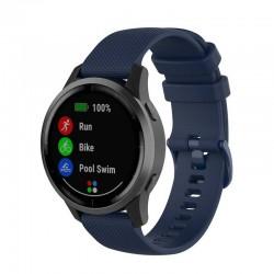 Silikonový řemínek pro Garmin Vivoactive 4s modrý