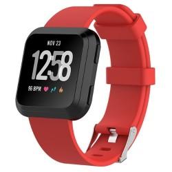 Sportovní silikonový řemínek pro Fitbit Versa 2 červený